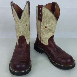 ARIAT Cowgirl Western Leather Boots Size 10 B
